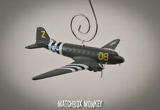 WWII C-47 Dakota Gooney Bird Skytrain USAF Airplane Aircraft Christmas Ornament