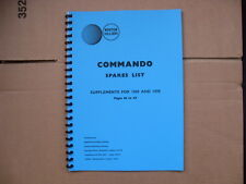 NORTON COMMANDO 750 PARTS BOOK FOR 1968,1969,1970 MODELS