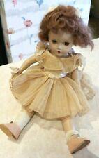 "Vintage R & B Arranbee Nanette? Doll w/Pleated Party Dress - 14"""