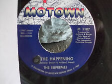 45 MOTOWN RECORDS THE SUPREMES THE HAPPENING / ALL I KNOW ABOUT YOU
