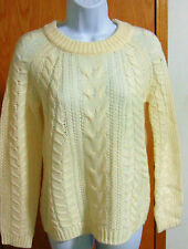 Lord & Taylor Women's White Cable Knit sweater  Extra Small