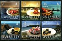 GUERNSEY 2005 EUROPA GASTRONOMY SET OF ALL 6 COMMEMORATIVE STAMPS MNH