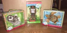 American Girl Doll Lea Adventure Mini Doll, Sea Turtle and Sloth BNIB!