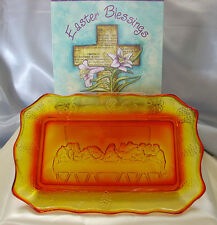 "VINTAGE~1955 -LG WRIGHT""LORDS(LAST)SUPPER""10.5""BREAD/CAKE PLATE/TRAY+A $4 SHP SP"