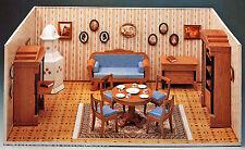 Biedermeier Puppenstube 1:12 Möbel Zubehör Bastelbogen J.F. Schreiber Dollhouse