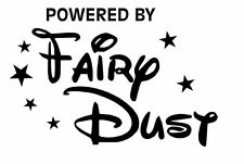 POWERED BY FAIRY DUST VINYL DECAL STICKER TINKERBELL DISNEY CHOOSE COLOR