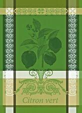 GARNIER THIEBAUT, CITRON VERT (LIME) ACIDE FRENCH WOVEN KITCHEN / TEA TOWEL(S)