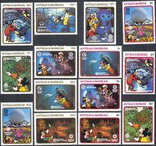 Antigua 1988 Disney/EPCOT/Mickey/Goofy/Diver/Diving/Cartoon/Animation 14v n42578