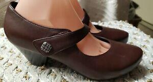 Dansko Womens Betty Mary Jane Leather Pumps Heels Shoes Brown Sz 39 US 8.5-9
