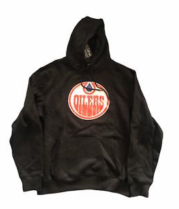 Edmonton Oilers Men's Hoodie Fanatics NHL Logo Hoodie - Black - New