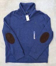 Polo Ralph Lauren Shawl Collar Cotton Sweater Sweatshirt Pullover Men Sz XXL 2X