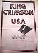 KING CRIMSON USA 1975 UK Poster size Press ADVERT 16x12 inches