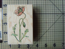 "Penny Black Wood mounted rubber Stamp ""Poppy"" Lovely Detailed Stamp from 2001"