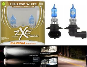 Sylvania Silverstar ZXE Gold 9005 HB3 65W Two Bulbs Head Light High Lamp Stock
