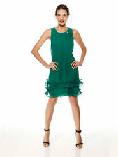 Ashley Brooke Heine Cocktail Dress Green Size UK 20 rrp £119 LF084 FF 06