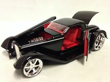 "1932 Ford Hard Top w/Fender, Collectible 8"" Diecast 1:24 , Jada Toys, Black"