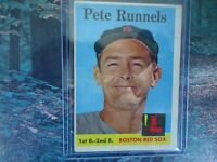 1958 TOPPS PETE RUNNELS BOSTON RED SOX