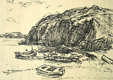 Wolfgang von Websky 1895-1992 Wangen / Lithographie / Felsenküste Kreta 1979