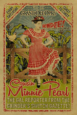 Vintage Minnie Pearl Iron On Transfer For T-Shirt & Other Light Color Fabrics #1