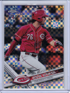 2017 Topps CHROME JESSE WINKER Rookie RC #74 XFRACTOR Parallel! REDS REFRACTOR