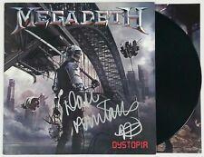 MEGADETH DAVE MUSTAINE SIGNED DYSTOPIA LP VINYL RECORD ALBUM W/ JSA CERT
