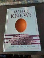 Who Knew? by Bruce Lubin & Jeanne Bossoina Lubin