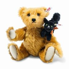 "STEIFF 'FRIGHT NIGHT FRIENDS"" EAN 683220 TEDDY/WITH BLACK SCARY CAT-MOHAIR 2017"