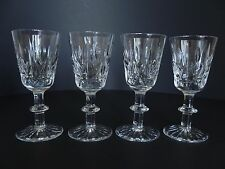 """Set of 4 Royal Brierley Crystal Cut Small Stem Wine Glass. Approx 4 3/4"""" Tall"""