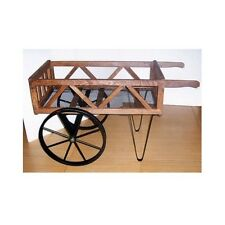 Garden Carts And Wagons Yard Flower Planter With Big Wheels Barrow Display Pots