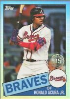 2020 Topps Chrome Ronald Acuna Jr Atlanta Braves 1985 Refractor #85TC-25