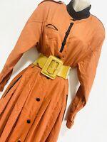 Lodenfrey Brown Long Sleeve Dress 8