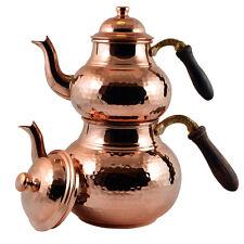 2 Pieces Solid Pure Hammered Copper Stovetop Teapot Tea Kettle Pot , 2.85 qt