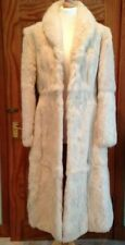 Full length cream vintage fur coat size UK 8 vgc