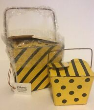 Katherine's Collection Set Of 2 Retired Bumble Bee Chinese Takeout Gift Box Nos