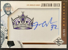 2012-13 Panini Limited - Jonathan Quick Monikers Patch Auto /99 Kings #M-JQ