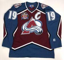 JOE SAKIC 1996 STANLEY CUP STARTER NHL COLORADO AVALANCHE JERSEY LARGE