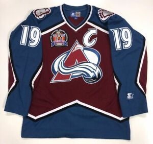 JOE SAKIC 1996 STANLEY CUP STARTER NHL COLORADO AVALANCHE JERSEY LARGE