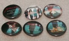 "6 METALLICA - Pinbacks 1"" Pins Badges One In Buttons - Heavy Metal Band Pins"