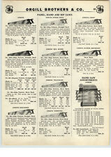 1939 PAPER AD Atkins Hardware Hand Saw Store Display Rack Stand Ship Pattern