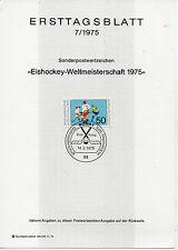 Alemania Deportes Hockey Hojita Primer Día del año 1975 (CQ-999)