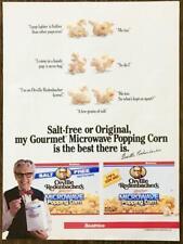 1985 Orville Redenbacher's Microwave Popping Corn PRINT AD Talking Popcorn