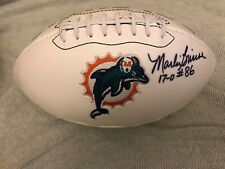 MIAMI DOLPHINS AUTOGRAPHED SIGNED FOOTBALL MARLIN BRISCOE 17-0 #86 UNDEAFTED
