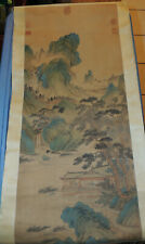 Japanese Painting Hanging Scroll Japan Landscape Antique Picture Aged Art