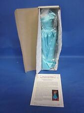 Brand New Danbury Mint Princess Diana Wardrobe One Shoulder Turquoise Gown NRFB