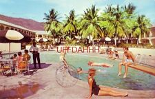 guests enjoy salt water pool YACHT HAVEN RESORT, ST. THOMAS, VIRGIN ISLANDS 1962