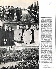 1938 Accords de Munich Mussolini Chamberlain  IMAGE SCOLAIRE 1964 ILLUSTRATION