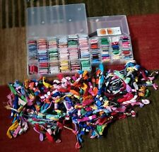 Huge Lot of Cotton Embroidery Embroidery Floss Over 400 Cards + Skiens, 2 Cases