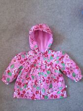 Liegelind Pink Girl Jacket with Flowers Roses Size with Hood 3-6 Months