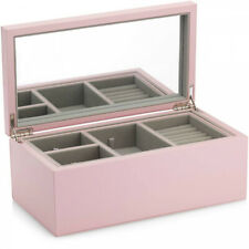 Pandora Pink Leather jewellery box joyero joyero Medium a005