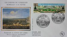 ENVELOPPE PREMIER JOUR - 9 x 16,5 cm -ANNEE 2001 - LES JARDINS DE VERSAILLES